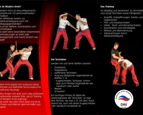 Deutscher Arnis Verband Flyer