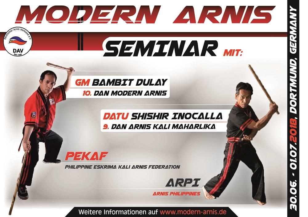 Deutscher Arnis Verband Teaser Modern Arnis Seminar Bamit Dulay u Shishir Inocalla