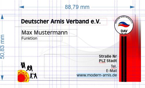 Deutscher Arnis Verband Visitenkarte
