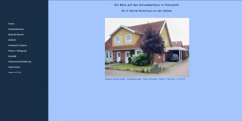 Webseite schwedenhaus-hohwacht.de